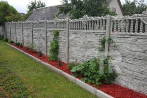 Dekoratyvinės gelžbetoninės tvoros