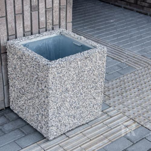 Šiukšliadėžė Š-GS su granito skaldos apdaila
