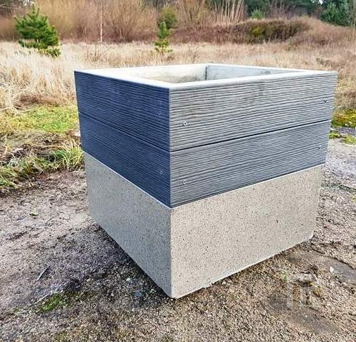 Šiukšliadėžė Š-ELE su medžio–plastiko kompozito dailylentėmis